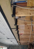 air tightness membrane through the ceiling joist level