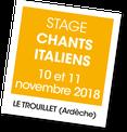 Stage de chants italiens, Xavier Rebut, A vous de jouer, Le Trouillet