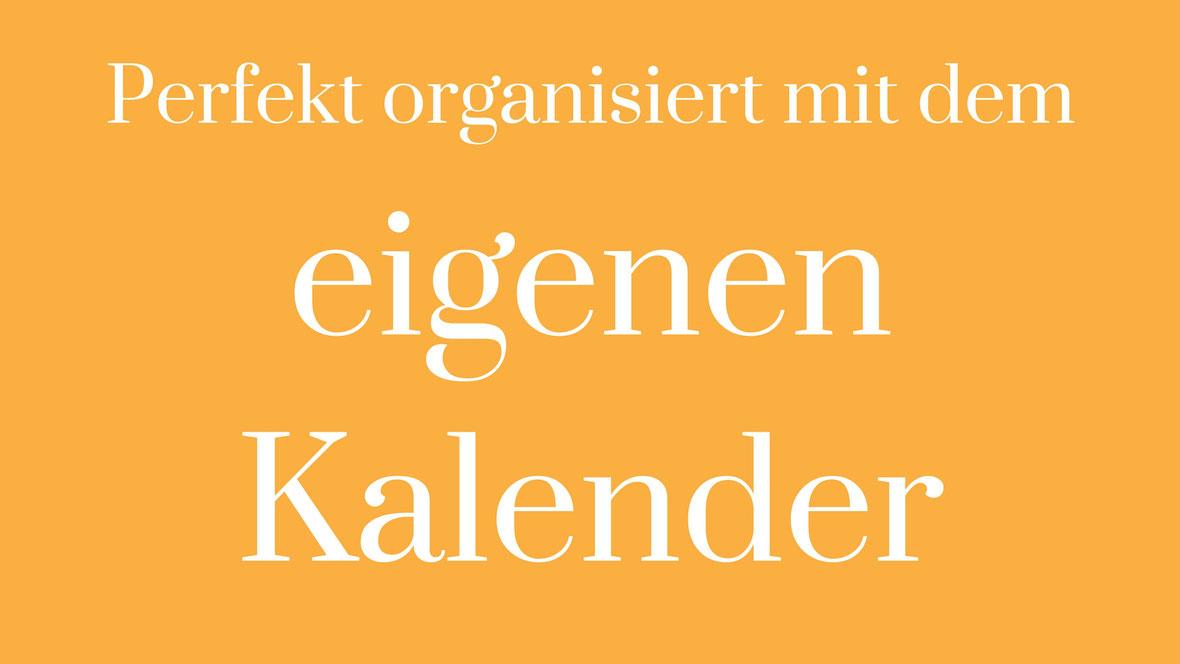 Kalender selbst gestalten Planer Planung Organisation Fünfjahresplan 5Jahresplan