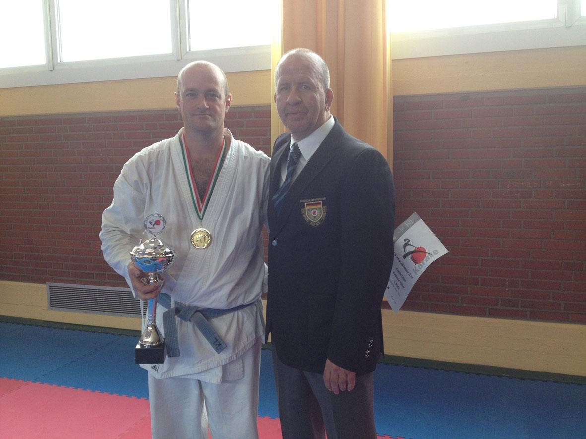 1. Platz Ü 30 / +80kg Waldemar Völker – Bushido Köln mit Ralf Vogt