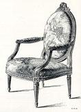 Réfection fauteuil ancien