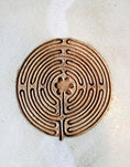 Keramik Kachel mit Labyrinth, Keramik Bild