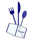 Vektorgrafik Besteck und Rezeptkarte