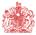 British culture: Queen of England logo for reading exercise
