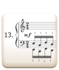 Piano Technique Exercise N°13 from C. L. Hanon's piano book : The Virtuoso Pianist in 60 Exercises
