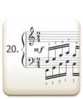 Piano Technique Exercise N°20 from C. L. Hanon's piano book : The Virtuoso Pianist in 60 Exercises