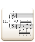 Piano Technique Exercise N°11 from C. L. Hanon's piano book : The Virtuoso Pianist in 60 Exercises