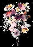 Fleurs Aquarelle Aquanell Bouquet