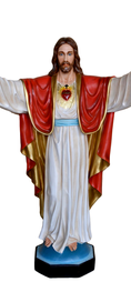 Religious statues Jesus - Sacred Heart of Jesus with open arms