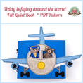 Quiet book sewing tutorial activity book flying around the world teddy