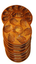 Set Plate Platter Oyster Crab REVERNAY French Majolica SARREGUEMINES