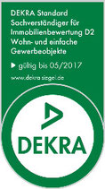 Die DEKRA-Zertifizierung des Gutachters sichert eine hohe Qualität des Immobiliengutachters