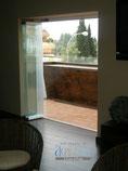 Aperturas de las cortinas de vidrio