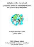 Couverture - L'adoption tardive - INRS