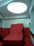 poste de barre interieure tribord avec son coussin