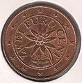 MONEDA AUSTRIA - KM 3083 - 2 CÉNTIMOS DE EURO - 2.008 - ACERO - COBRE (SC/UNC) 1€.