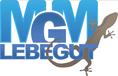 MGM Lebegut sobre las traducciones de LanguageKitchen, logotipo de MGM Lebegut