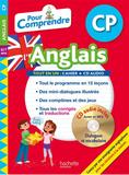 """Un livre avec CD intitulé """"Pour Comprendre l'Anglais"""" pour CP de Joanna Le May, publiée par Hachette."""
