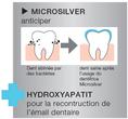 Vous avez aussi le dentifrice Microsilver Plus, un soin dentaire professionnel à la maison