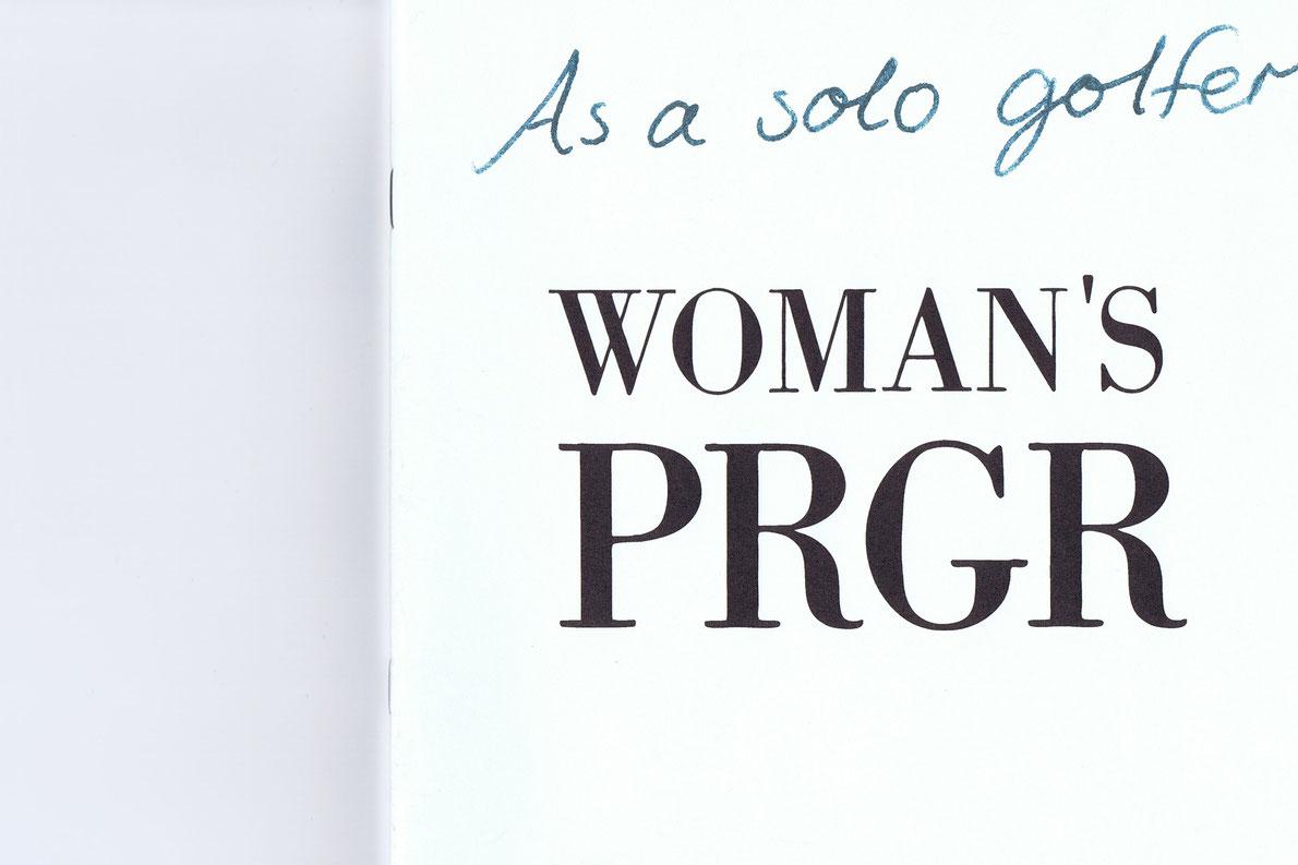 PRGR WOMANリーフレット