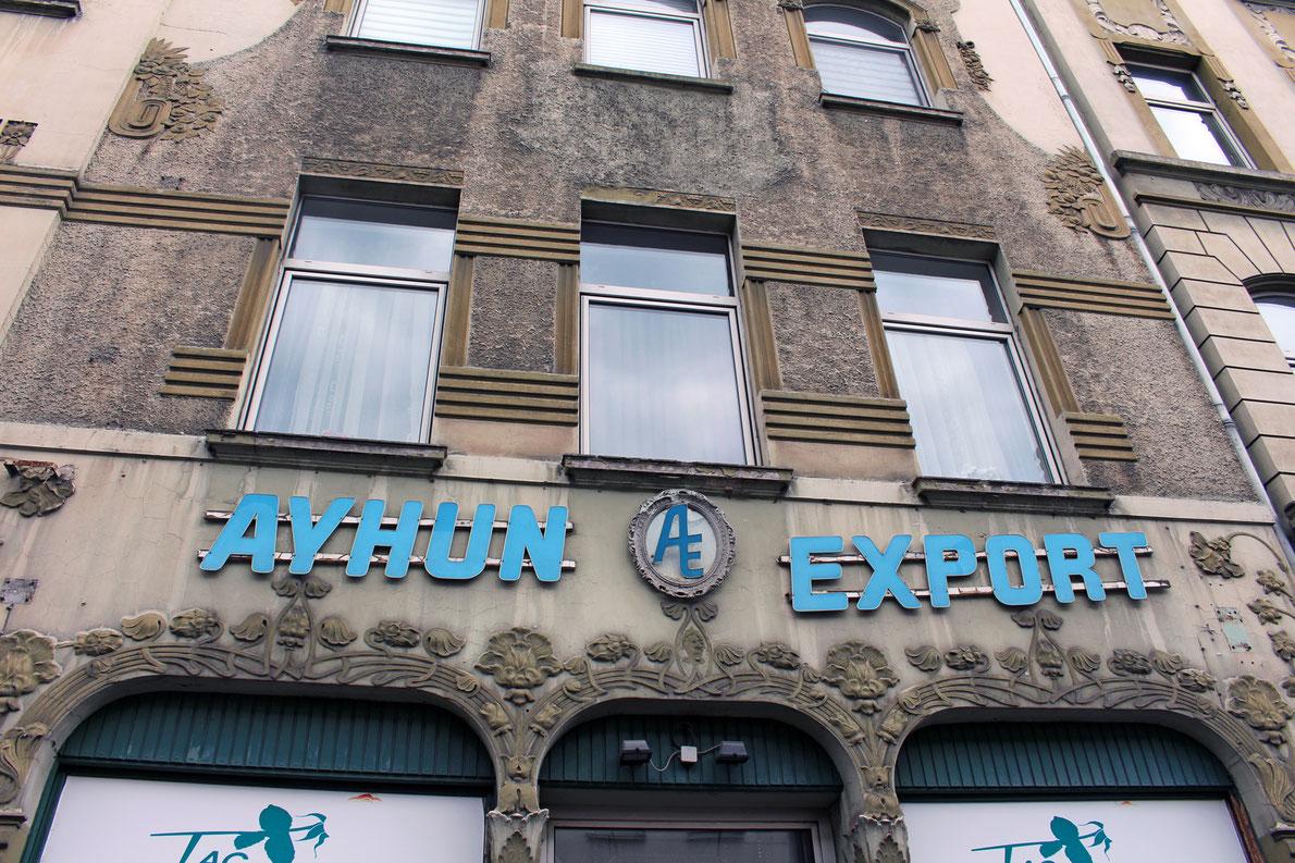 Schön verziertes Haus in der Keupstraße.