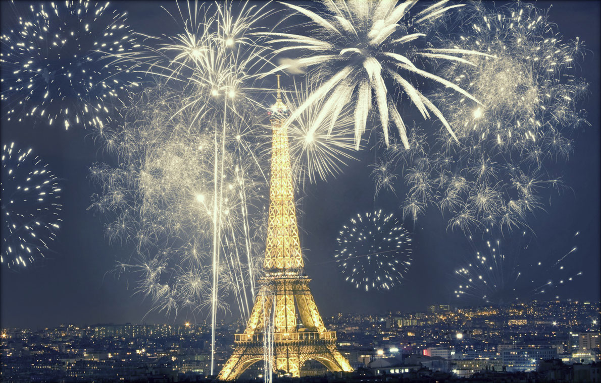 paris new year firework