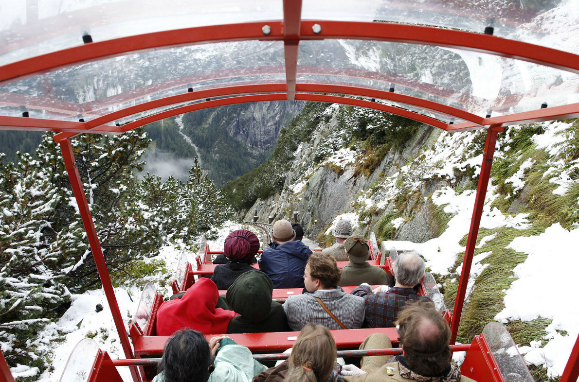 Gelmerbahn - Gelmersee lake funicular