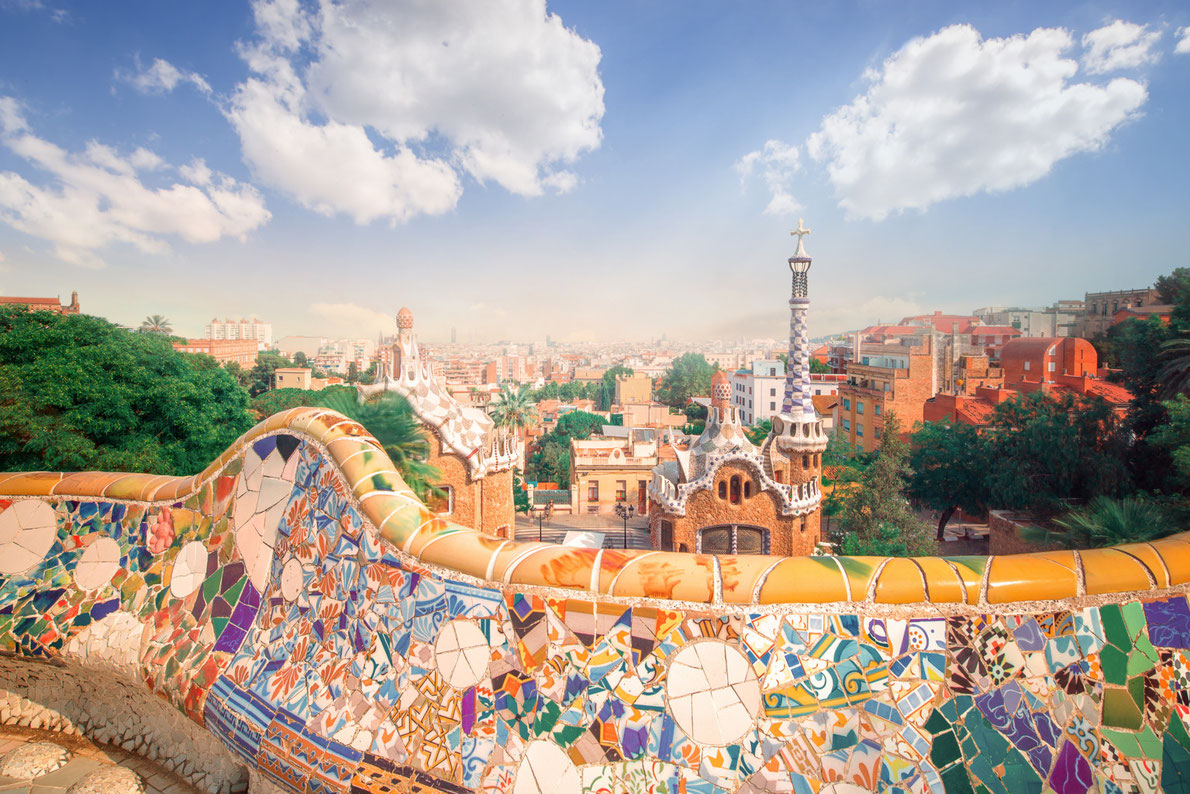 Best parks in Europe - Park Guell Barcelona Copyright Funky Tee - European Best Destinations