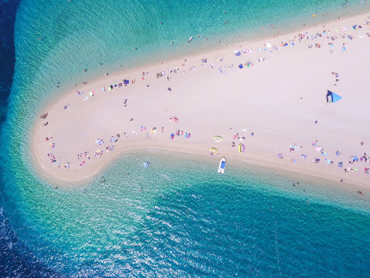 Aerial view Zlatni rat beach in Bol, Island Brac, Croatia Copyright  paul prescott