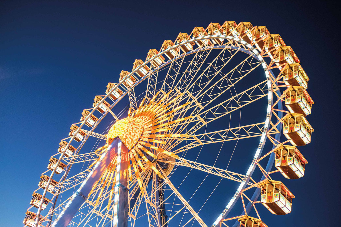Most beautiful ferris wheels in Europe - famous ferris wheel at the oktoberfest in munich - germany Copyright FooTToo