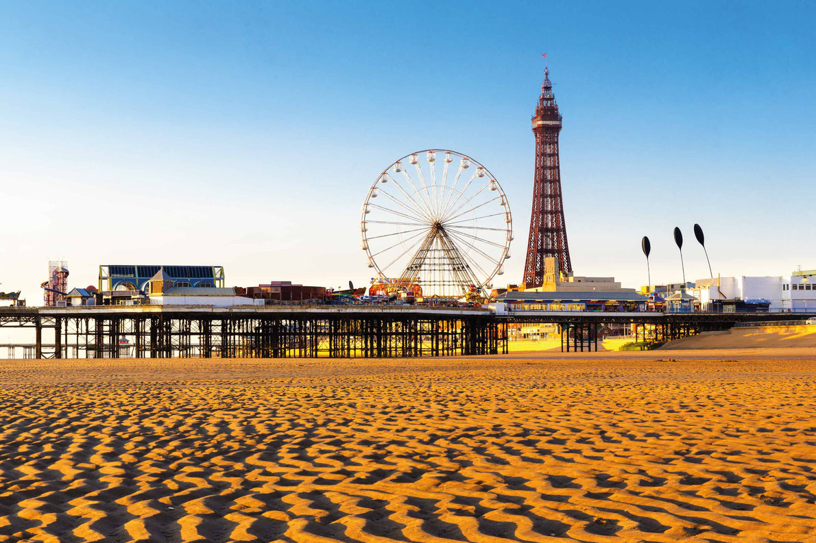 Most beautiful ferris wheels in Europe - Blackpool Tower and Central Pier Ferris Wheel, Lancashire, England, UK Copyright Paul Daniels