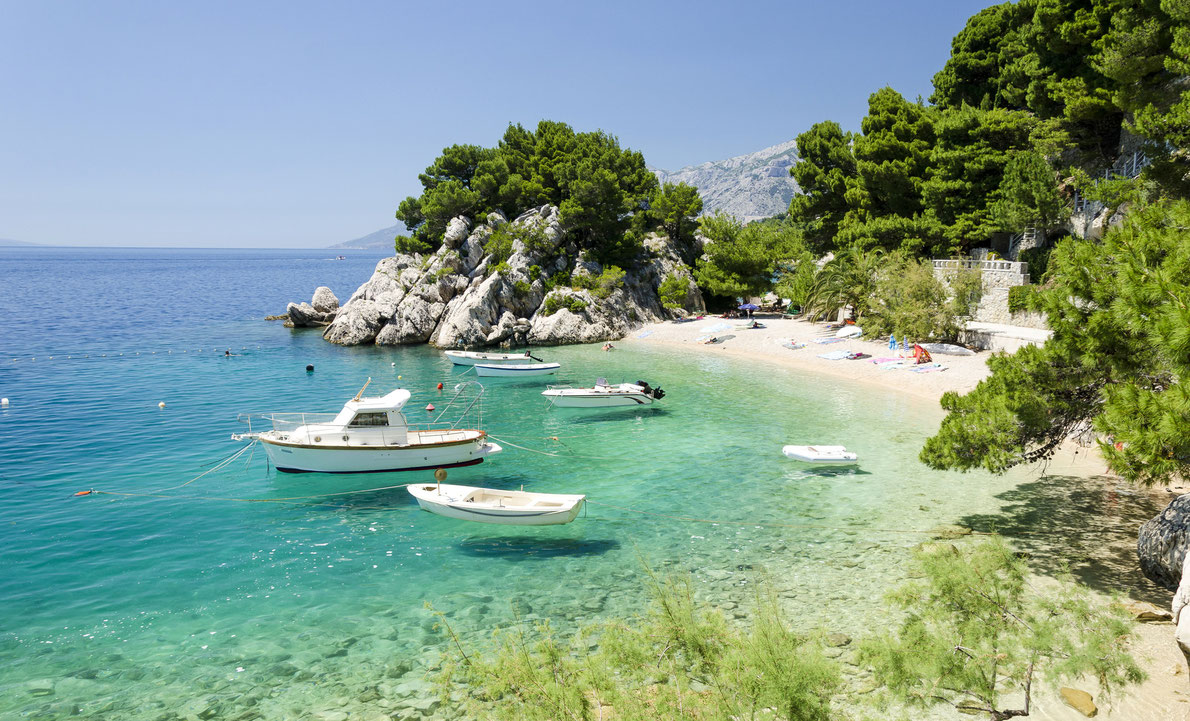 Podrace Beach in Brela, Croatia - Best beaches Europe