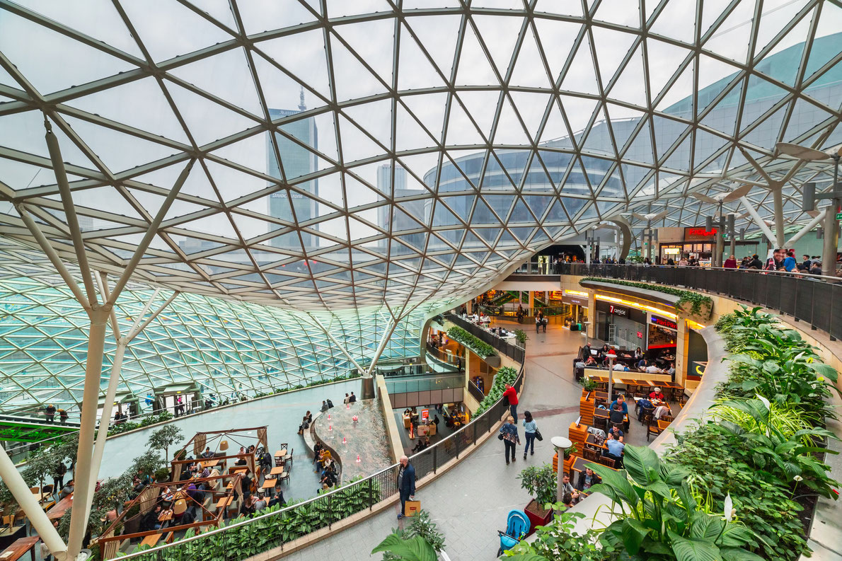 Best shopping centers in Europe - Zlote Tarasy Copyright Patryk Kosmider - European Best Destinations