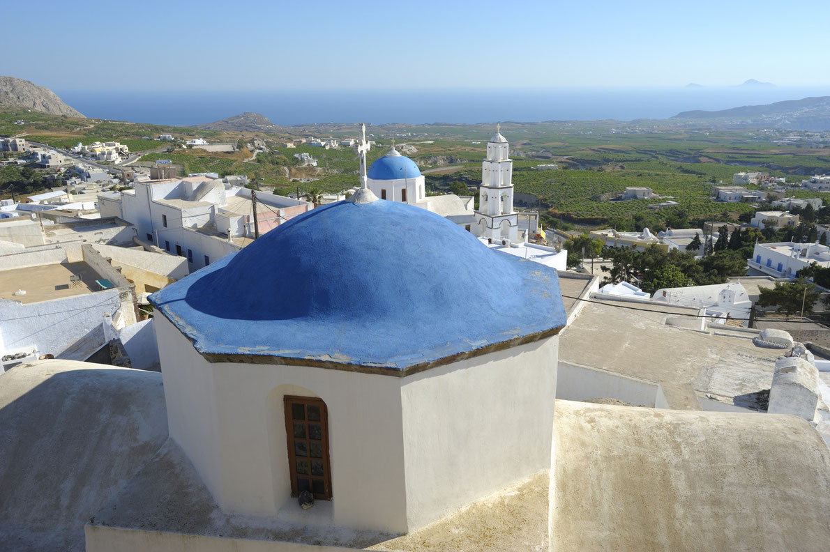 Santorini vineyards landscape Greece - Best wine destinations in Europe