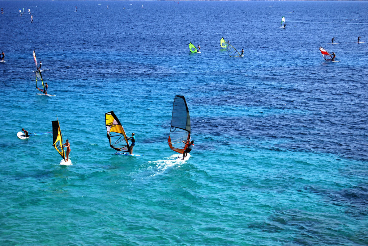 Windsurfers in Bol, Brac, Croatia Copyright Amra Pasic