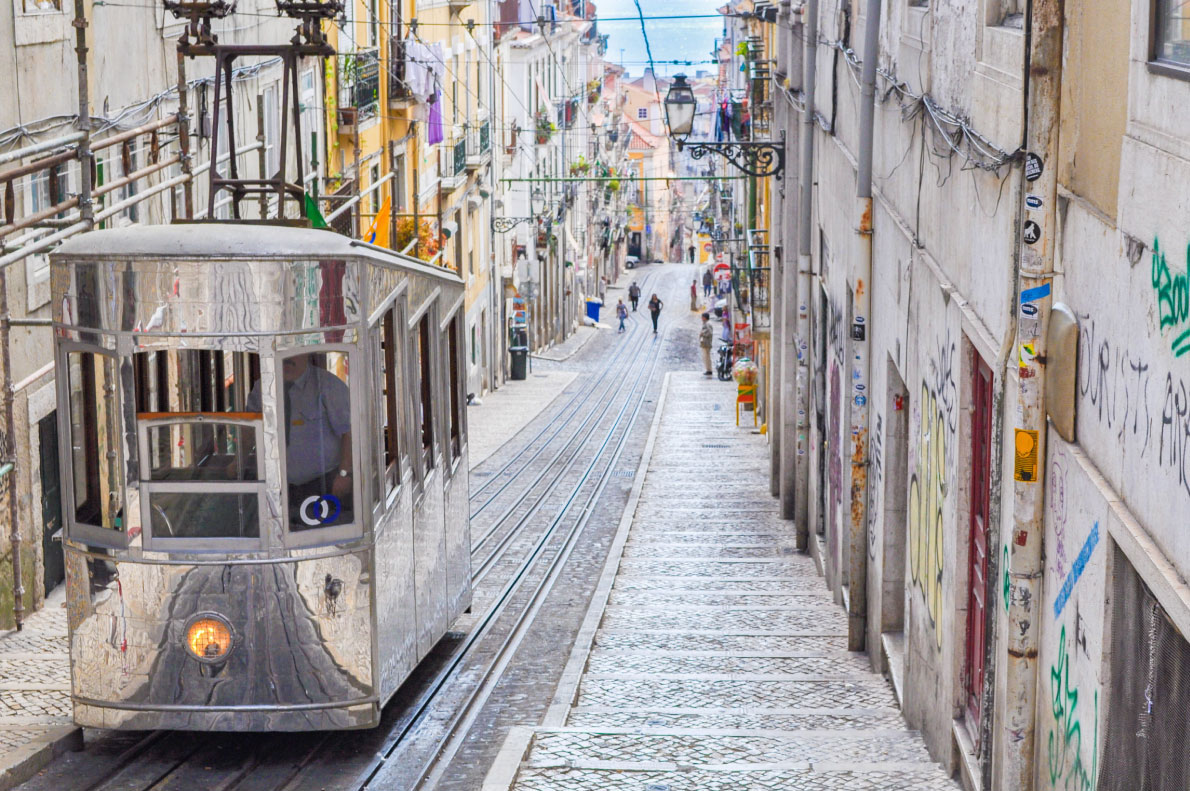 The Bica Funicular in Lisbon