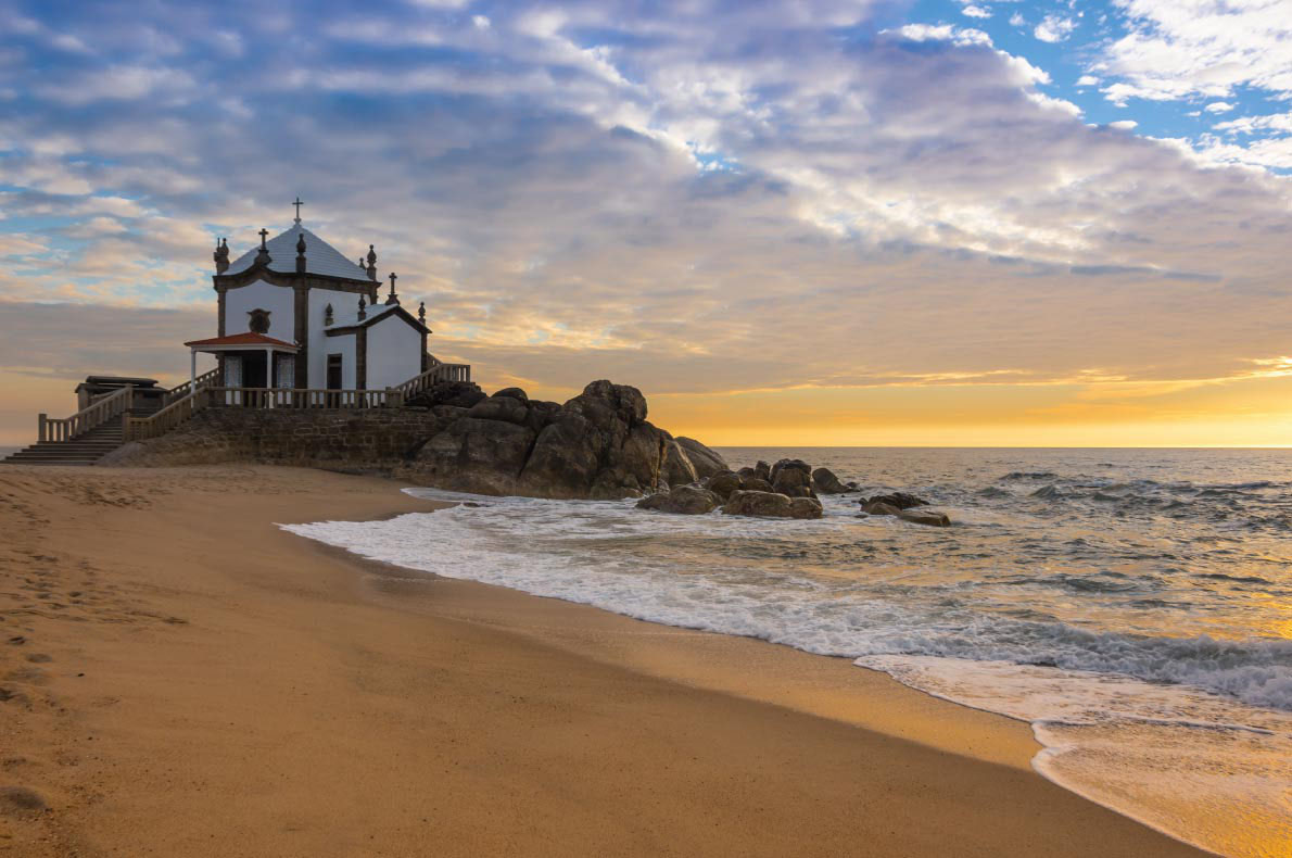 Senhor da Pedra chapel, Praia Mirama in Portugal - European Best Destinations