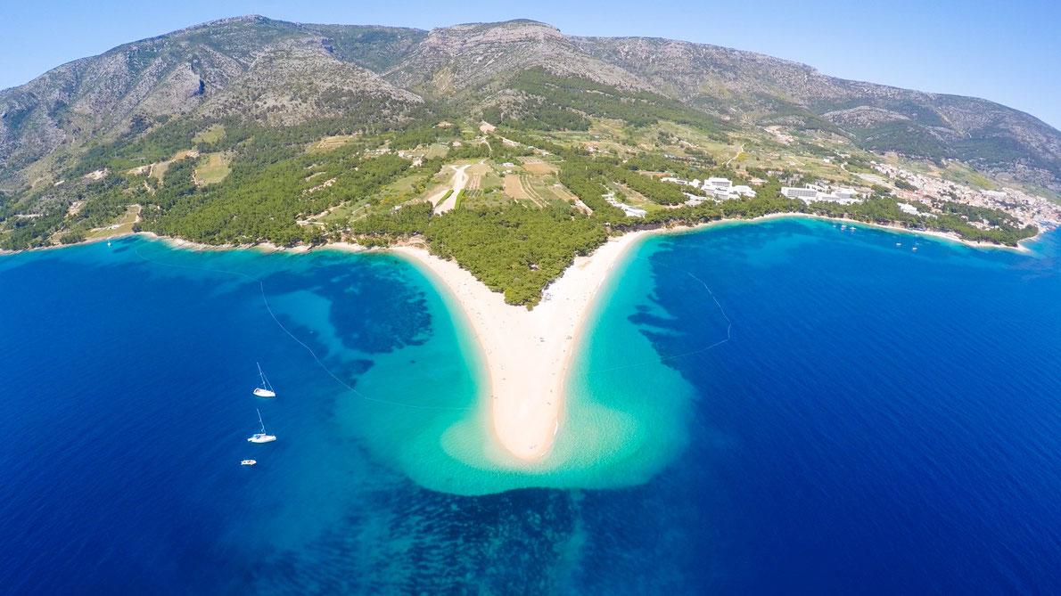 Zlatni Rat beach in Croatia - Best Beaches in Europe