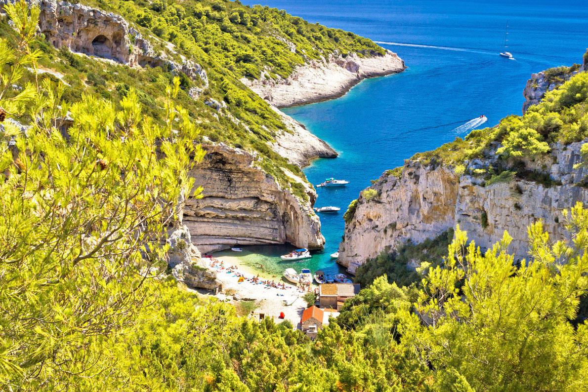 Stiniva Beach - Vis Island - Best beaches in Europe - Copyright xbrchx- European Best Destinations