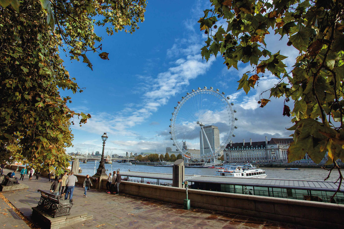 Most beautiful ferris wheels in Europe -  The London Eye on River copyright Profonz
