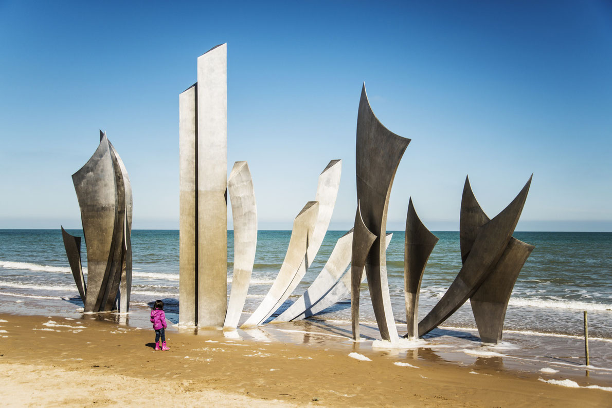 World war II destinations in Europe - Omaha Beach - Copyright  edella