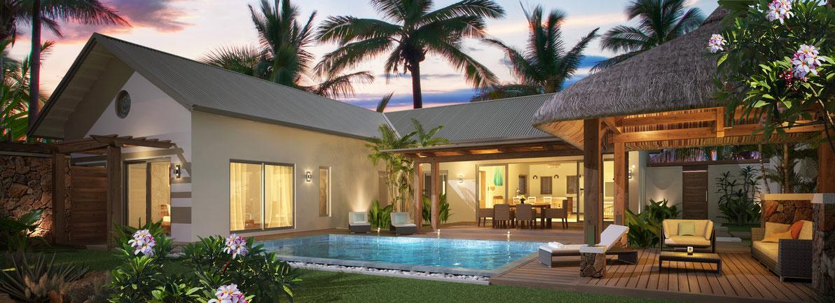 nouvelle résidence de villas RES investissement FRANGIPANE GRAND BAIE  ILE MAURICE
