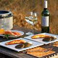 Wiesenknopf-Blinis mit Lachs