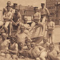 Casually naked group from times gone by