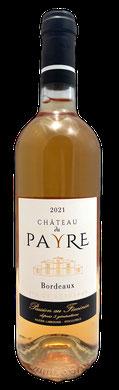 Chateau du Payre rosé, vins terra vitis Bordeaux, rosé pale