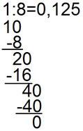 Weiteres Beispiel für die Umrechnung von Brüchen in Dezimalzahlen