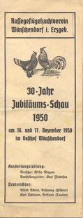 Bild: Teichler Wünschendorf Progrmm 1950
