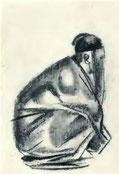 L'homme-ombre. Peintures, sanguines et croquis d'Alexandre JACOVLEFF (1887-1938). Texte de TCHOU Kia-kien de Brunoff, éditeur, Paris, 1922.