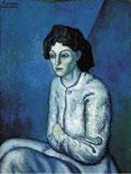 Пабло Пикассо. Женщина со скрещёнными руками. (1901-1902г.) Продана за 55 млн. долларов