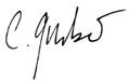 Unterschrift Eva Jacobs, Geschäftsleiterin